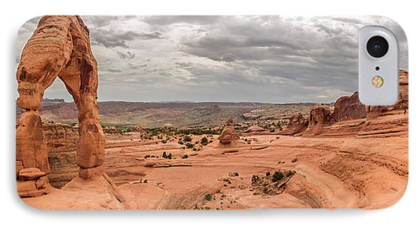 Delicate Arch Panoramic IPhone Case by Adam Romanowicz