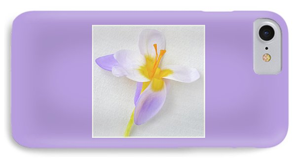 IPhone Case featuring the photograph Delicate Art Of Crocus by Terence Davis