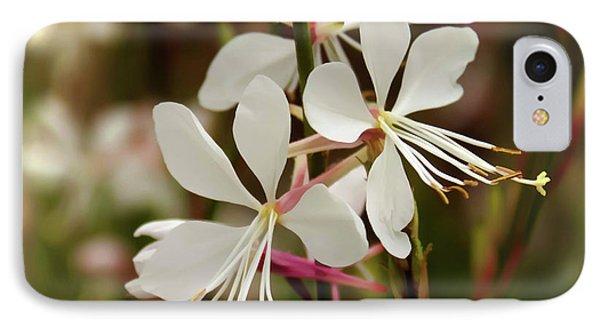 Delicate Gaura Flowers IPhone Case