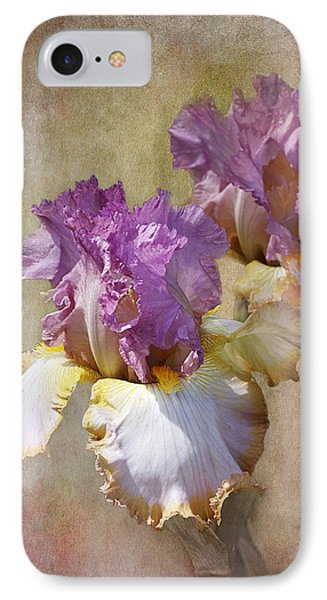 Delicate Gold And Lavender Iris IPhone Case