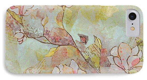 Delicate Magnolias IPhone Case by Shadia Derbyshire