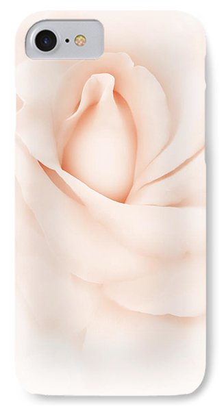 Delicate Peach Rose Flower IPhone Case by Jennie Marie Schell