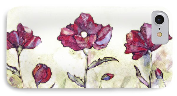 Delicate Poppy I IPhone Case by Shadia Derbyshire