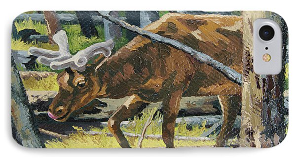 IPhone Case featuring the painting Delicious Greens, Yellowstone by Erin Fickert-Rowland