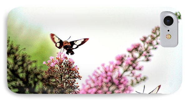IPhone Case featuring the photograph Delight And Joy - Hummingbird Moths In Flight by Kerri Farley