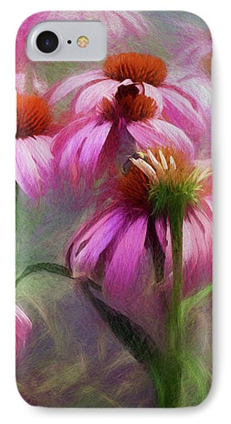 Delightful Coneflowers IPhone Case by Diane Schuster