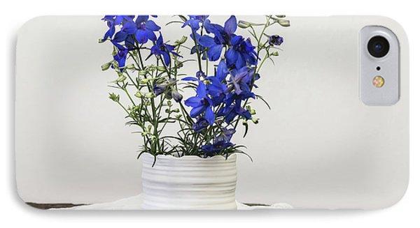 IPhone Case featuring the photograph Delphinium Blue by Kim Hojnacki