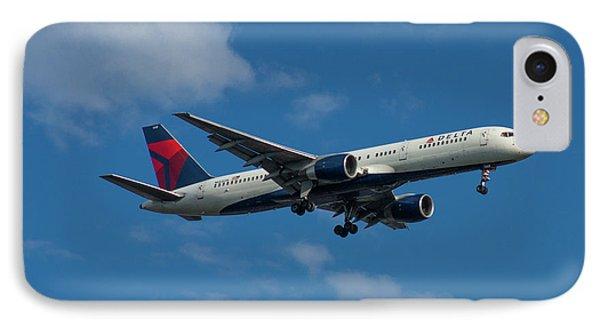 Delta Air Lines 757 Airplane N668dn IPhone Case by Reid Callaway