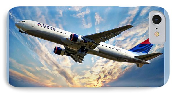 Delta Passenger Plane IPhone Case by Anthony Dezenzio