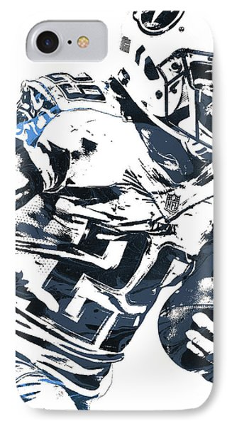 IPhone Case featuring the mixed media Demarco Murray Tennessee Titans Pixel Art 2 by Joe Hamilton