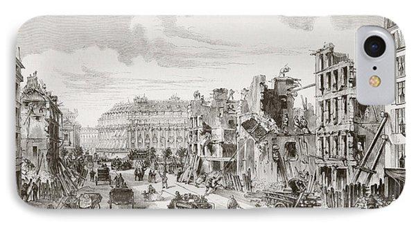 Demolition Of Buildings In The Rue De IPhone Case by Vintage Design Pics