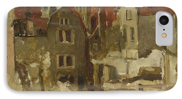 Demolition Of The Grand Bazar De La Bourse In Amsterdam At The Nieuwendijk IPhone Case by George Hendrik Breitner