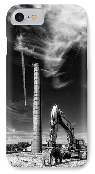 IPhone Case featuring the photograph Demolition Sky by Alan Raasch