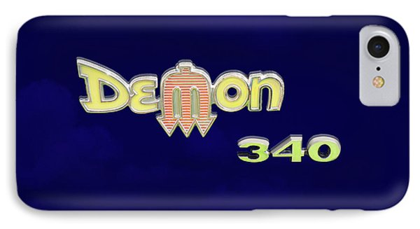 IPhone Case featuring the photograph Demon 340 Emblem by Mike McGlothlen