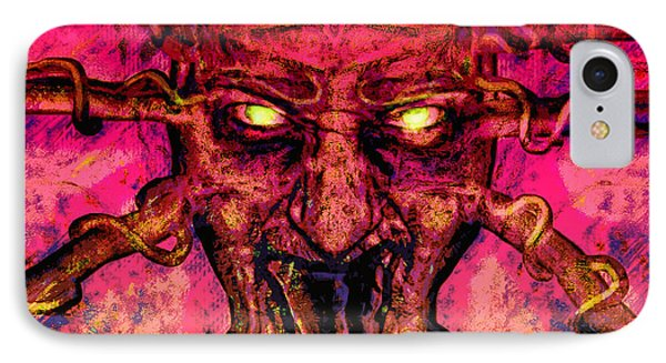 IPhone Case featuring the painting Demon by David Mckinney