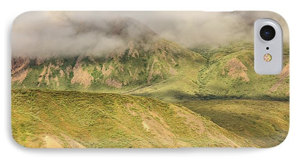 Denali National Park Mountain Under Clouds IPhone Case