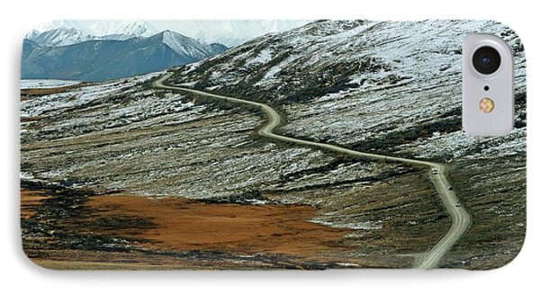Denali Road 3 IPhone Case by Marty Koch