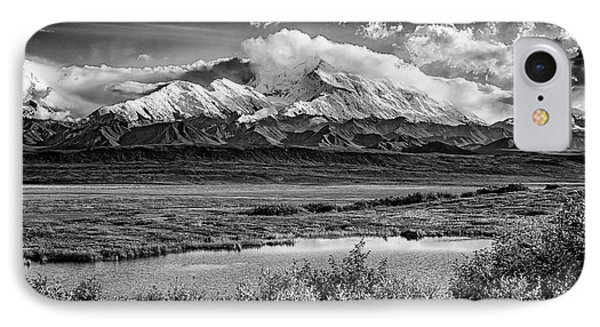 Denali, The High One In Black And White IPhone Case by Rick Berk