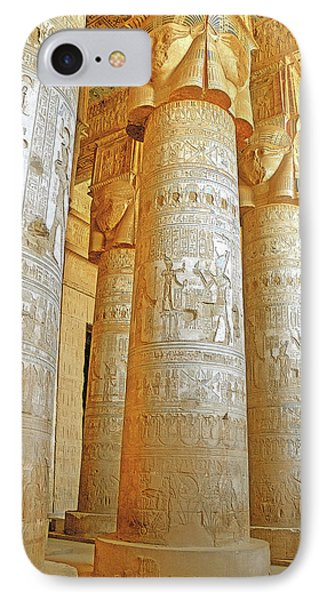 Dendera Temple Phone Case by Nigel Fletcher-Jones