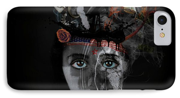IPhone Case featuring the digital art Denial's Child by Nola Lee Kelsey