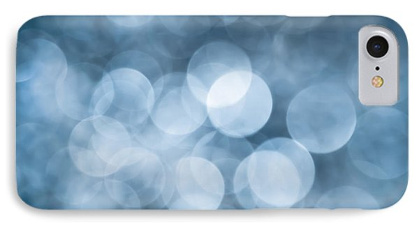 Denim Blue Bokeh IPhone Case by Jan Bickerton