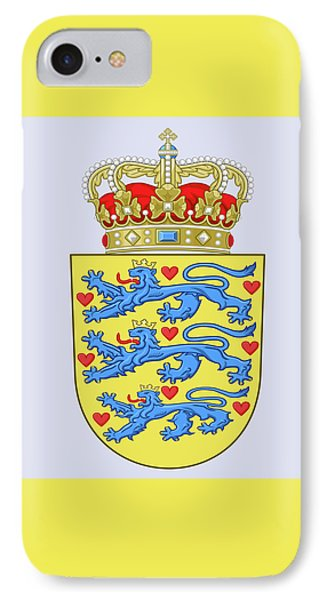 IPhone Case featuring the drawing Denmark Coat Of Arms by Movie Poster Prints