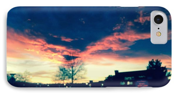 IPhone Case featuring the painting Dense Sunset by Angela Annas