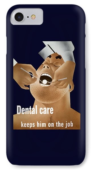 Dental Care Keeps Him On The Job IPhone Case
