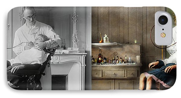IPhone Case featuring the photograph Dentist - Good Oral Hygiene 1918 - Side By Side by Mike Savad