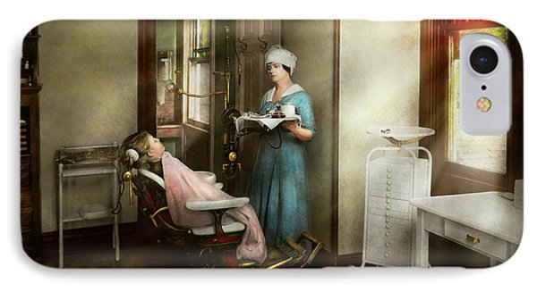 IPhone Case featuring the photograph Dentist - Patients Is A Virtue 1920 by Mike Savad
