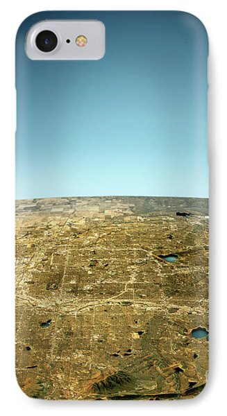Denver 3d View West-east Natural Color IPhone Case by Frank Ramspott