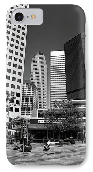 Denver Architecture Bw IPhone Case by Frank Romeo