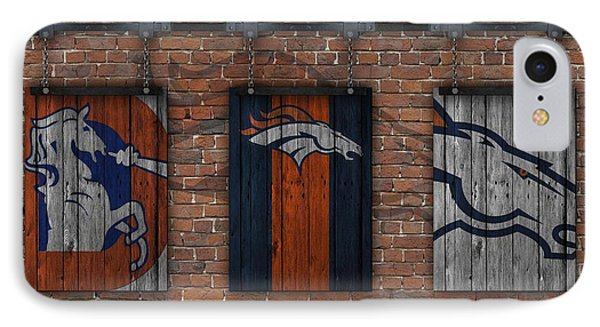 Denver Broncos Brick Wall IPhone Case by Joe Hamilton