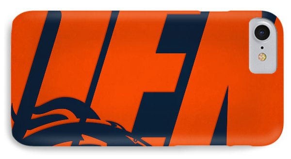 Denver Broncos City Name IPhone Case by Joe Hamilton