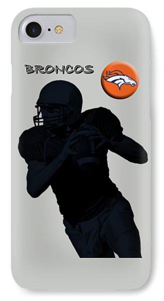 Denver Broncos Football Phone Case by David Dehner