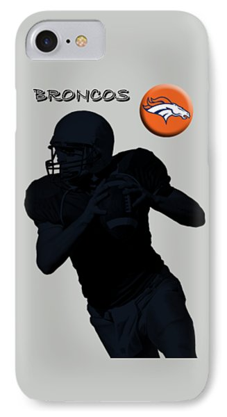 Denver Broncos Football IPhone Case by David Dehner