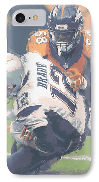 Denver Broncos Von Miller 2 IPhone Case by Joe Hamilton