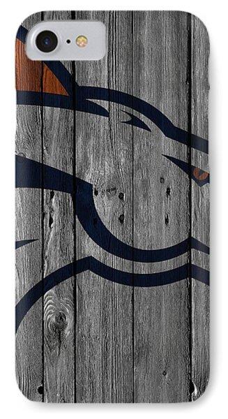 Denver Broncos Wood Fence Phone Case by Joe Hamilton