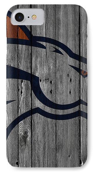 Denver Broncos Wood Fence IPhone Case by Joe Hamilton