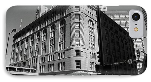 Denver Downtown Bw IPhone Case by Frank Romeo