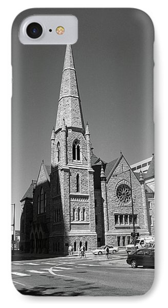 Denver Downtown Church Bw IPhone Case by Frank Romeo