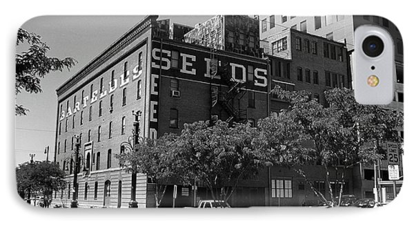 Denver Downtown Warehouse Bw IPhone Case by Frank Romeo