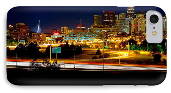 Denver Night Skyline Phone Case by James O Thompson