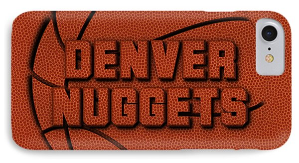 Denver Nuggets Leather Art IPhone Case by Joe Hamilton