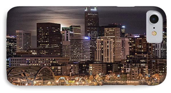 Denver Skyline At Night IPhone Case by Juli Scalzi