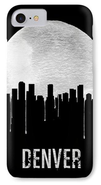 Denver Skyline Black IPhone Case by Naxart Studio