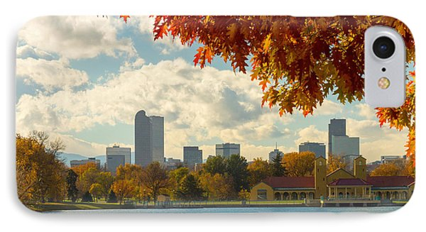 Denver Skyline Fall Foliage View IPhone Case by James BO  Insogna