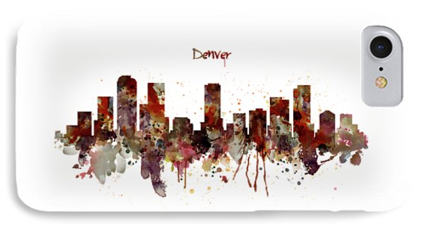 Denver Skyline Silhouette IPhone Case