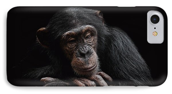Chimpanzee iPhone 7 Case - Depression  by Paul Neville