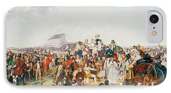 Derby Day Phone Case by William Powell Frith